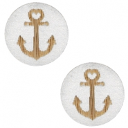 Cabochons hout anchor 12mm Silver