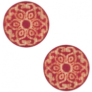 Cabochons hout mandala 12mm Cherry red