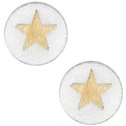Cabochons hout star 12mm Silver