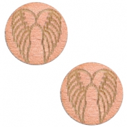 Cabochons hout angel wings 12mm Rosegold
