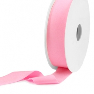 Elastisch Ibiza lint 25mm Light pink