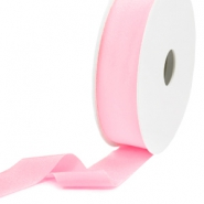 Elastisch Ibiza lint 25mm Light rose