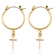 Musthave Oorbellen Cross Gold