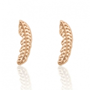 Musthave Oorbellen studs feather Rosegold