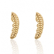 Musthave Oorbellen studs feather Gold