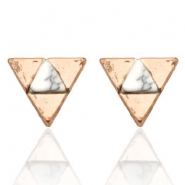Musthave Oorbellen studs triangle Rosegold