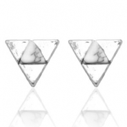 Musthave Oorbellen studs triangle Silver