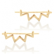 Musthave Oorbellen earline zigzag Gold