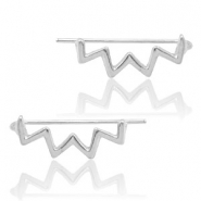 Musthave Oorbellen earline zigzag Silver