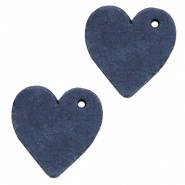 Hangers DQ leer hart Dark denim blue