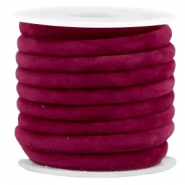 Trendy velvet koord gestikt 6x4mm Yarrow purple