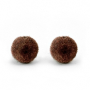 Velvet kralen pompom 6mm Chocolate brown