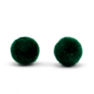 Velvet kralen pompom 8mm Dark green