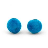 Velvet kralen pompom 6mm Light blue