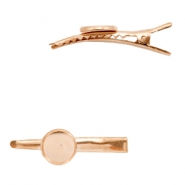 Metalen settings haarclip voor cabochon 12mm Rosegold