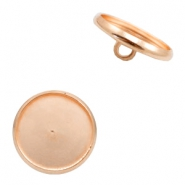 Metalen settings knoop voor cabochon 12mm Rosegold