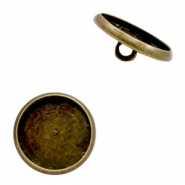 Metalen settings knoop voor cabochon 12mm Brons