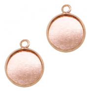 Metalen settings bedel voor cabochon 12mm Rosegold