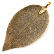 Bedels 1 oog metaal leaf Antique gold