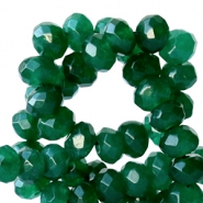 6 mm kralen natuursteen disc facet geslepen Jade Emerald green