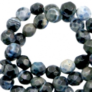 3 mm kralen natuursteen disc facet geslepen Anthracite blue