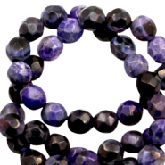 3 mm kralen natuursteen disc facet geslepen Dark purple