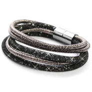 Hippe armband sparkle & shine Anthracite-black