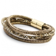 Hippe armband sparkle & shine Ginger golden red-silver