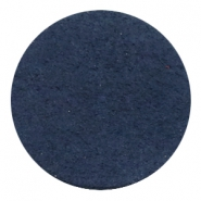 Cabochons DQ leer 35mm Dark denim blue