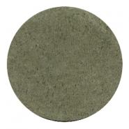 Cabochons DQ leer 35mm Dark olive green