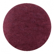 Cabochons DQ leer 35mm Light aubergine red