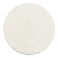 Cabochons DQ leer 35mm Off white