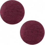 Cabochons DQ leer 20mm Light aubergine red