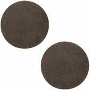 Cabochons DQ leer 20mm Dark vintage brown