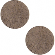 Cabochons DQ leer 20mm Chocolate brown