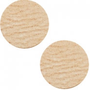 Cabochons DQ leer 20mm Smoke cognac brown