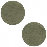 Cabochons DQ leer 12mm Dark olive green