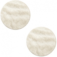 Cabochons DQ leer 12mm Country grey