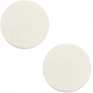 Cabochons DQ leer 12mm Off white