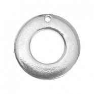 ImpressArt slagletterplaatjes bedels ring 24mm Pewter Zilver