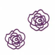 Bohemian tussenstuk rose 10mm Aubergine purple