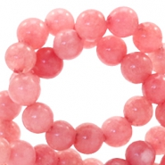 4 mm kralen natuursteen rond Red Stone Coral berry rose