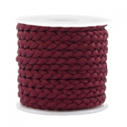 Trendy koord plat gevlochten 5mm silk style Port red