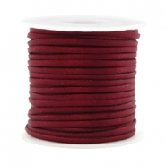 Trendy koord plat 2mm silk style Port red
