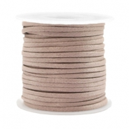 Trendy koord plat 2mm silk style Rose taupe
