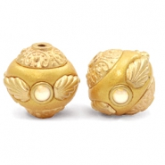 Kralen bohemian 14mm Golden coast yellow-gold