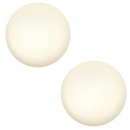 20 mm classic Super Polaris cabochon matt Cloud cream white