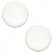 20 mm classic Super Polaris cabochon matt White