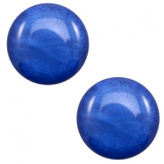 12 mm classic Polaris Elements cabochon Mosso shiny Cobalt blue