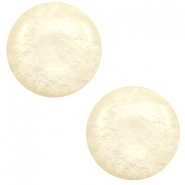 12 mm classic Polaris Elements cabochon Mosso shiny Cloud cream white